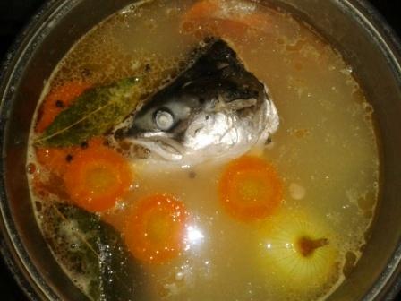рыбный суп из красной головы рыбы рецепт