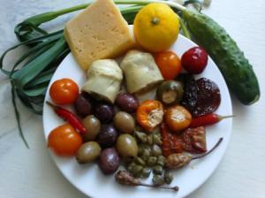 маринованные овощи салат средиземноморский