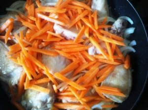 курица, лук, морковь для плова