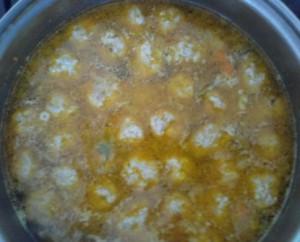 суп с фрикадельками варка