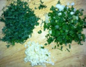 суп с фрикадельками зелень