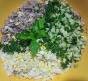 консервированная рыба яйцо зелень