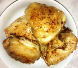 курица к фасоли